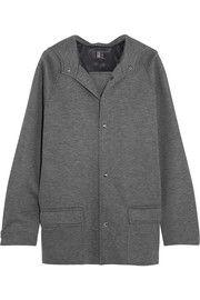 Oversized hooded modal-jersey jacket