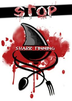 Stop shark finning! Student work for graphic design culture class by John Luigi Flores - Raffles Design Institute Manila
