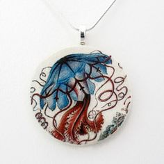 Jellyfish Necklace Blue, $22, now featured on Fab.