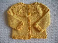 Sarı Bebek Hırkası Yapılışı