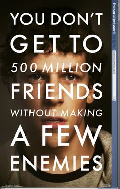 The Social Network , starring Jesse Eisenberg, Andrew Garfield, Justin Timberlake, Rooney Mara. Harvard student Mark Zuckerberg creates the social networking site that would become known as Facebook, but is later sued by two brothers who claimed he stole their idea, and the cofounder who was later squeezed out of the business. #Biography #Drama