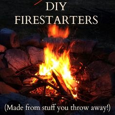Building A Frog: DIY Fire Starters: Made from stuff you throw away!