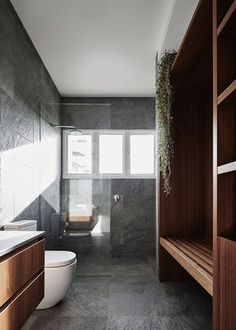A dated farmhouse gets a modern redo (Desire To Inspire) Cozy Fashion, Grey Bathrooms, Modern Farmhouse, New Homes, Bedroom, Architecture, Inspiration, Design, Home Decor
