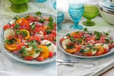 Салат с грейпфрутом, томатами и моцареллой: my_happyfood