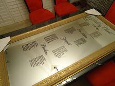 Mirror Seating Chart - www.calligraphybylisa.com
