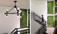 ndustrial Light Fitting With Black Design Interior Work, Office Interior Design, Office Interiors, Interior Architecture, Interior And Exterior, Interior Decorating, Office Design Concepts, Workplace Design, Corporate Design