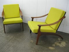 Illum Wikkelso Komfort Mobler - Pair of Danish Teak lounge Chairs