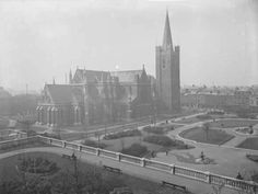 Saint Patrick's Cathedral founded in 1191 it has a spire and is the tallest and largest church in Ireland Dublin Street, Dublin Ireland, St Patrick, New York Skyline, Cathedral, Past, Nostalgia, History, Places