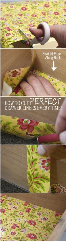 How To Cut A Perfect Drawer Liner Every Time w/o Measuring