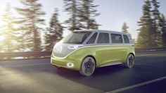The VW Microbus loses the dirty fossil fuels. And the driver.