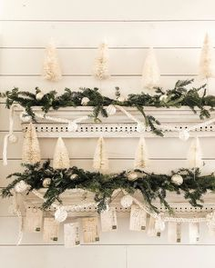 Fun game ✨which one is the vintage original and which one is the replica? Put your guesses in comments. 2 is better… Tree House Decor, Home Decor, Vintage Wreath, Santa Mugs, Diy Advent Calendar, White Tail, Linen Bag, How To Make Wreaths, Fun Games