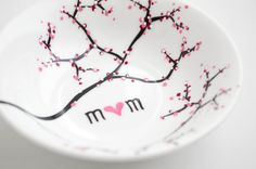 Personalized jewelry dish for Mothers Day.