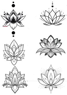 Lotus Tattoo Design, Small Lotus Tattoo, Flower Tattoo Designs, Lotus Flower Tattoos, Lotus Mandala Tattoo, Lotus Flower Mandala, Lotus Flower Drawings, Lotus Tattoo Wrist, Lotus Henna