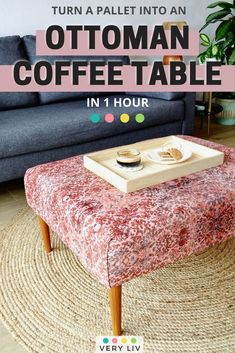 What to do with all those pallets? The quintessential DIY dilemma. Learn how to turn a pallet into a DIY Ottoman Coffee Table for your living room in one hour! ⎮ Get more DIY and Home Decorating projects on Very Liv