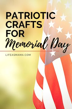 Memorial Day is such a special day for Americans. It is a day to honor those you have given the ultimate sacrifice for our great nation. Teach your kids the importance of such a day and add a little extra to it with a great, fun craft! Life as Mama has 7 patriotic crafts for kids to try this Memorial Day, and keep them up until 4th of July! Tap the photo again to learn more! #lifeasmama #Memorialdayactivities #memorialday #kidcrafts #funcrafts #patriotic Summer Science, Summer Activities For Kids, Fun Crafts For Kids, Projects For Kids, Fun Activities, Memorial Day Activities, Patriotic Crafts, Mom Hacks, Home Schooling