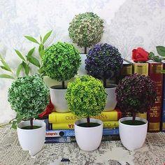 Realistic Topiary Ball&Tree Plants In Pot Garden Home Decoration Indoor Outdoor
