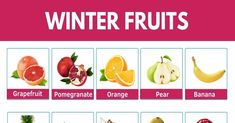 Winter Fruits | List of Winter Fruits and their Awesome Benefits 1 Winter Crops, Fruit List, Fruit Picture, Sour Taste, Pomegranate Juice, Vitamin C, Grapefruit, Pear, Benefit