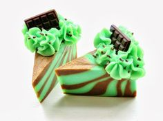 Petals Bath Boutique (Beacon Creations): On the Curing Rack: COCO MINT Soap Cake Slices