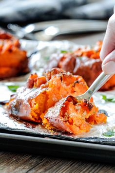 Smashed Sweet Potatoes- an easy and delicious side dish recipe!