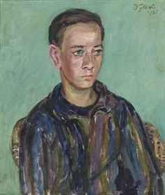 Duncan Grant (UK, - Portrait of a young man - 1961 - oil on canvas-board; Ben's Bells, The Duchess Of Devonshire, Duncan Grant, Vanessa Bell, Bloomsbury Group, Night At The Museum, Canvas Board, Artist Names, Magazine Art