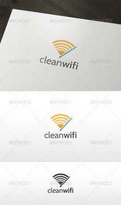 Clean Wifi Logo: Symbol Logo Design Template created by Toshev. Logo Design Template, Logo Templates, Ai Illustrator, Text Fonts, Symbol Logo, Color Change, Wifi, Clean Design, Branding