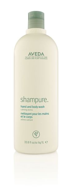 25 pure flower and plant essences make up one of our signature aromas, Shampure. Find it in a new LITRE-size hand and body cleanser and enjoy! #SmellsLikeAveda