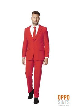 Red Dress Suit For Men (Slim Fit) Colored Blazer Jacket, Pants, Party Costume
