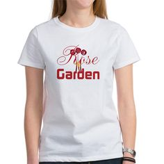 Rose Gardener Hobby Red Bouquet T-Shirt, editable text, personalized gift.