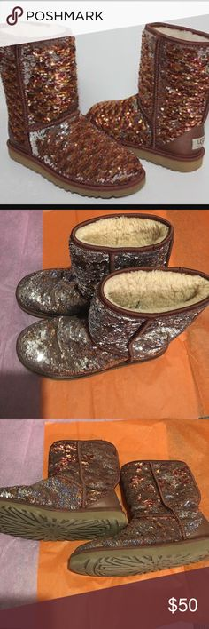 Sequin ugg boots Good condition UGG Shoes Ankle Boots & Booties