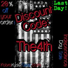 Last Day!Independence Day Sale! Discount code: The4th for 20% off you entire order! From June 27th to July 11th. #independencedaysale #the4th