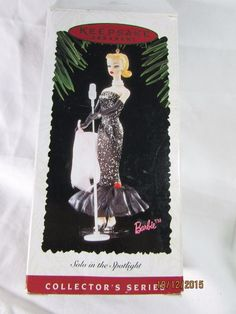 1995 Hallmark Keepsake Collectors Series Barbie Solo in the Spotlight Ornament