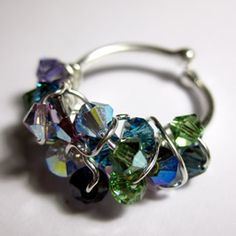 make the ring base and wrap your crystals !