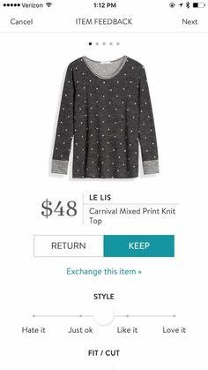 Stitch Fix Stylist: I like the cut of this sweater. The tiny polka dots are cute. Pretty Outfits, Fall Outfits, Cute Outfits, Fashion Outfits, Fix Clothing, Stitch Fix Fall, Knit Pencil Skirt, Stitch Fix Outfits, Stitch Fix Stylist