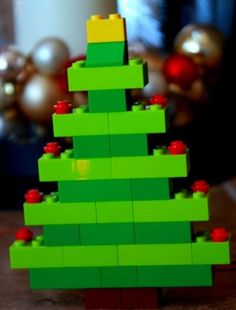 Kerstboom van lego/duplo maken