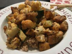Tofu stir fry Tofu Stir Fry, Kitchenette, Pampered Chef, Original Recipe, Cauliflower, Fries, Vegetables, Ethnic Recipes, Food