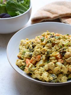 Curried Chickpea Salad recipe--eat as is, in a pita or wrap, as a sandwich, or on greens as a salad.