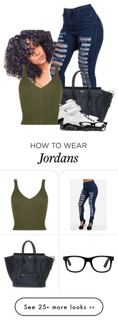 Untitled #347 by cuteclouthes on Polyvore featuring CÉLINE