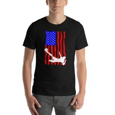 USA American Flag Shield Colors America National Pride Born From Men/'s Thermal