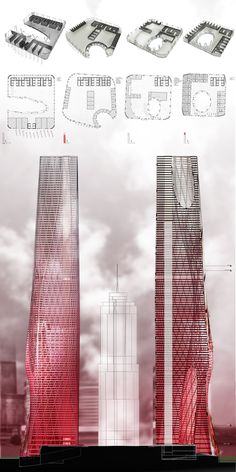 architecture presentation layout _ Devoid Tower by Daniel Caven at the Illinois Institute of Technology
