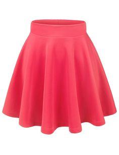 Amazon.com: Thanth Womens Versatile Stretchy Pleated Flare Short Skater Skirt: Clothing