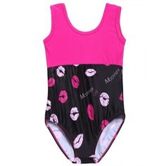 New Kids Girl's Printed Dancing Suits Outfits Set Gymnastics Suits