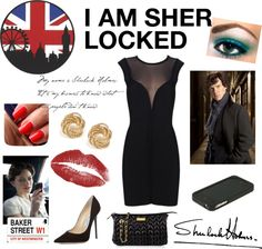 """""""I AM SHER LOCKED"""" by minabeloved ❤ liked on Polyvore"""