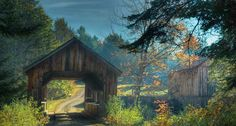 Covered bridge near Bradley, Maine (© A. J. Whitney/Getty Images) Saw this bridge on the way to Moosehead Lake one summer.