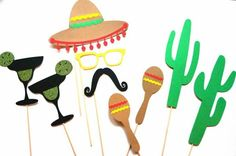 Photo Booths are so much fun for you party! Here are some ideas for a Mexican themed party