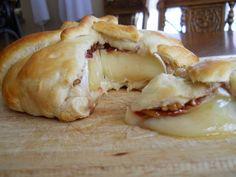 Cherry, Pecan and Rosemary Brie en croute