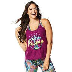 Zumba Womens Zumba Passion Loose Tank Violet Vibes XSmall *** Details can be found by clicking on the image.