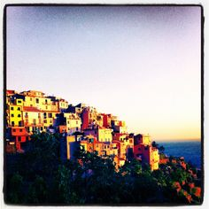 Claire - #summer#sunset #colors#yellow#blu#town#sea#water#sun#liguria#italy#beautiful#nice#sky#corniglia#mountain##