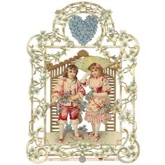 Double Sided Victorian Couple Scrap ~ Germany ~ New for 2013