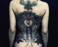 Tattoos That Look Like Lace | on their tattoo design lace tattoo corset ribbons art photography