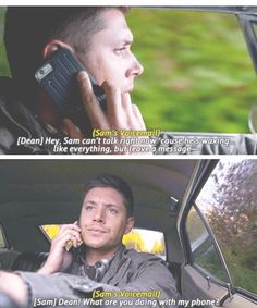 Don't try to tell me Sam didn't know what Dean did. He intentionally left the voice-mail that way. XD